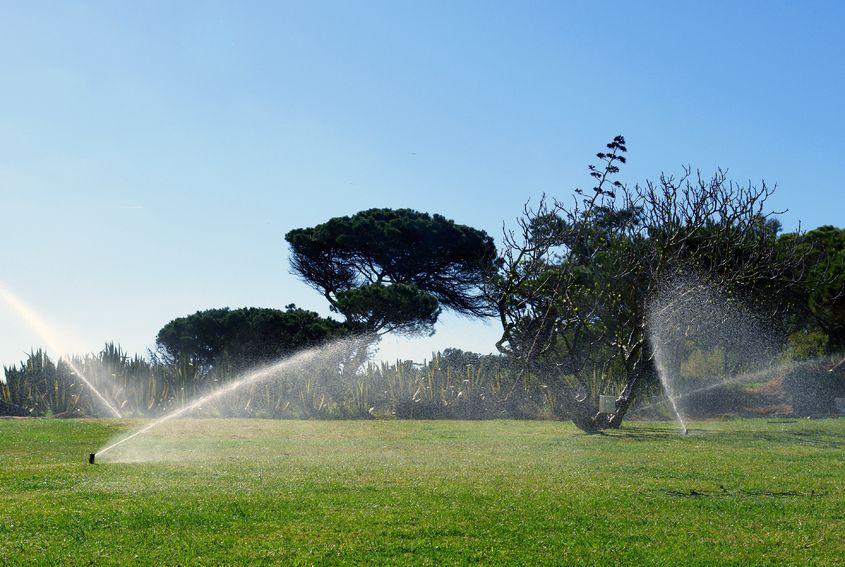 Commercial Lawn Sprinkler System