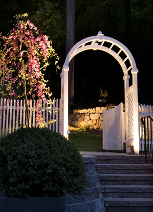 Walkway and Landscape Lighting in MA by Suburban Lawn Sprinkler Co