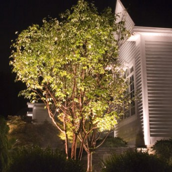 Front Landscape Lighting in MA
