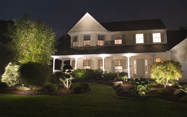 Front Yard Landscape Lighting In Ma