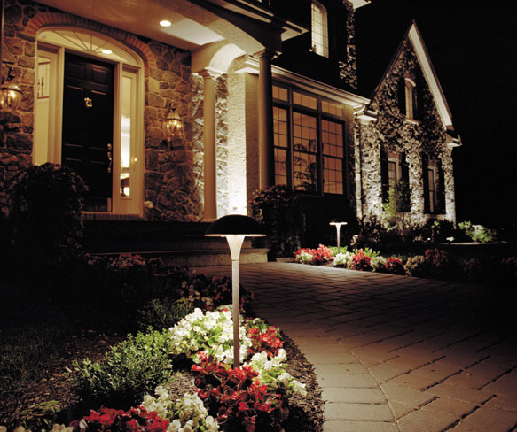 Path Illuminated by Landscape Lighting