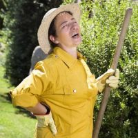 Woman in Pain from Gardening