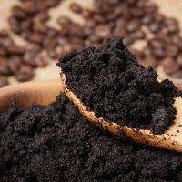 Coffee Grounds in Garden